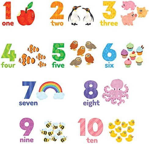 DECOWALL DWL 2020 Numbers Wall Stickers Wall Decals Peel and Stick Removable Wall Stickers for product image