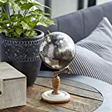 Deco 79 94476 Marble and Resin Globe, 10' x 5', Black/Silver/White/Brown