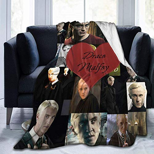 Tengyuntong Skin-Friendly Flannel Blanket Draco-Malfoy Couch Casual,Warm Throw Decor Soft Plush Bed Cover for Home Indoor,50'x40'.