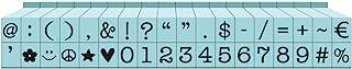 أختام خط الآلة كاتبة قابلة للنقر 3/16 بوصة 36/العبوة والرموز (عبوة من 1)