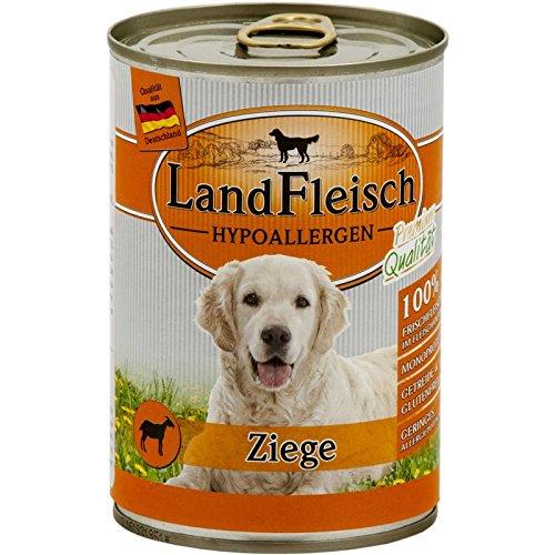 Landfleisch Hypoallergen Ziege | 12x 400g Hundefutter