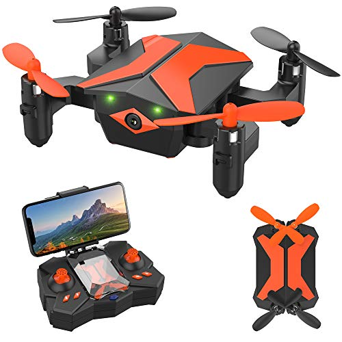 Drone with Camera - ATTOP Drones for Kids & Beginners, AR Game Mode 480P RC Drone for Kids w/App Gravity/Voice Control/Trajectory Flight/Altitude Hold 360°Flip Mini Drone Foldable & Portable