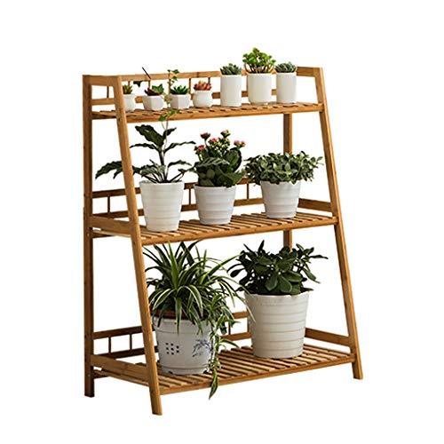 Support de fleurs Bamboo Landing Multicouche Rack succulent intérieur Balconnet à balustrade Étagère de salon trois couleurs Longueur 60cm / 80cm / 100cm (taille : 80cm)