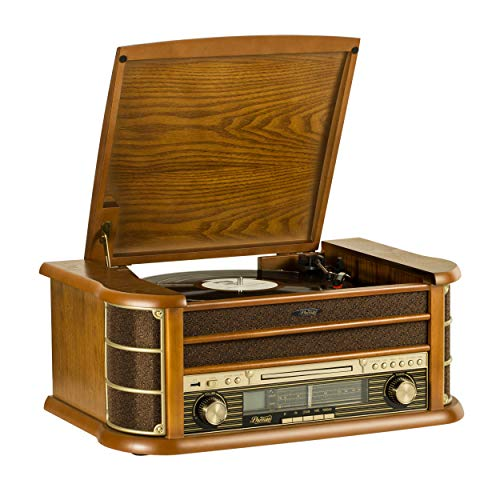Shuman Retro Wooden 7-in-1 Wirel...