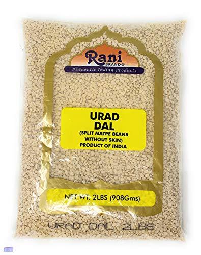 Rani Urid / Urad Dal (Split Matpe Beans without Skin) Indian Lentils 2b (32oz) ~ All Natural | Indian Origin | Gluten Friendly | NON-GMO | Vegan