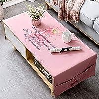 テーブルクロス ファブリックカバータオルコーヒーテーブルクロス小さな新鮮なピンクのフラミンゴプリントコットンとリネンのコーヒーテーブルカバー布テーブルクロス (Color : A, Size : 70*160cm)