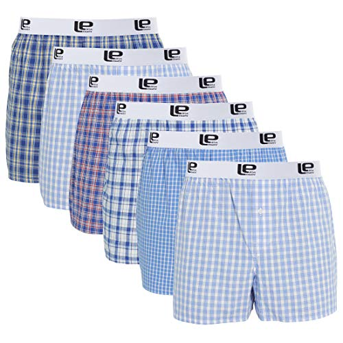 Lower East American Style Boxershorts, Mehrfarbig Business), XX-Large (Herstellergröße: 2XL), 6er-Pack