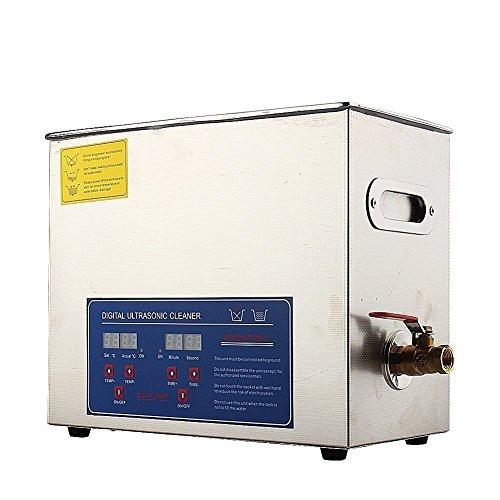 Limpiador Ultrasónico para Joyas, Gafas , Dentales y Electrónica Diseño Elementos Digital por Ultrasonido Onda lavadora 2L/3L/6L/10L/15L (estuche metal plata 6 L)