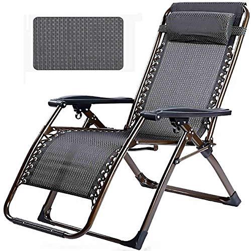 ZCZZ Tumbonas y sillones reclinables para jardín Pequeño patrón de Rejilla Negra...