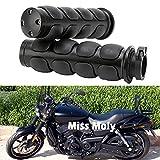 Empuñaduras de Motocicleta de 25mm, Puños de manillar Para Sportster Dyna Softail Vulcan Shadow Road Star (#2-Negro)