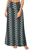 Urban CoCo Women's Stylish Spandex Comfy Fold-Over Flare Long Maxi Skirt