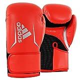 adidas Guantes de Boxeo Speed 100 para Hombre, Hombre, Color Rot/Schwarz/Silber,...