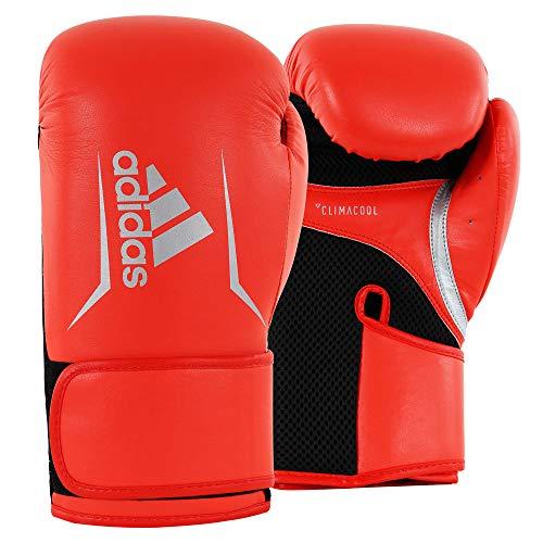 adidas Herren Speed 100 Boxhandschuhe, rot/schwarz/Silber, 14 oz
