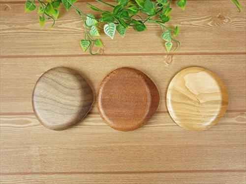 コースター木製木耳付選べる3色【メール便対応可】おしゃれカフェしずくcoasterソーサー来客用ウイローウッド