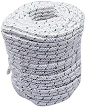 """findmall 3/8"""" x 200 feet Double Braid Polyester Rope 4800Lbs Breaking Strength Strong Pulling Rope for Climbing Sailing Ca..."""