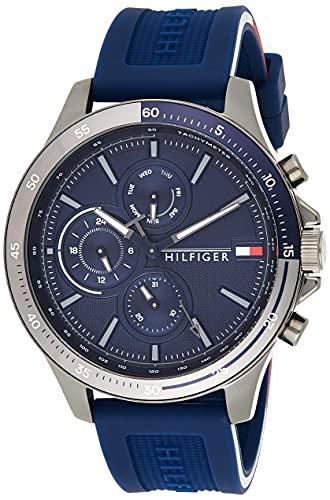 Tommy Hilfiger Reloj Analógico para Hombre de Cuarzo con Correa en Silicona 01791721