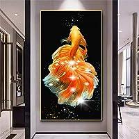 5DDIYダイヤモンドペインティングラインストーン鯉魚ダイヤモンドペインティングキットクリスタルペインティングDIYモザイク写真手作りクラフト家の装飾80x 150 cm