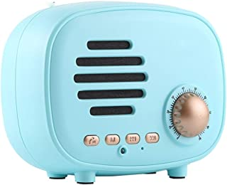 Retro Mini Wireless Bluetooth Speaker Supports Hands-Free Call/TF Card/U Disk/FM,Blue