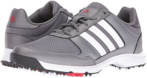 adidas Men's Tech Response Golf Shoe, Iron Metallic/White, 11 M US