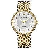 Nanhong Mouvement à quartz Casual étanche Montre-bracelet Bracelet avec Diamant de luxe Robe de Femme Montres