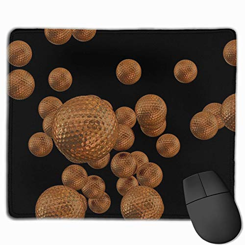 Glatte Mauspad Gold Golfball Mobile Gaming Mousepad Arbeitsmaus Pad Office Pad
