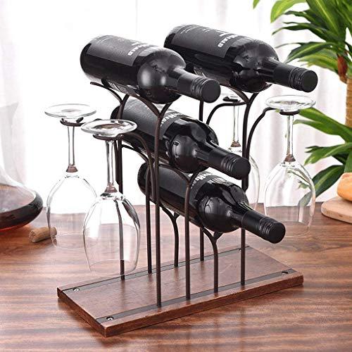 BGHDIDDDDD Novedad Estante para Vino Estantes para Vino Estante Organizador de Vino Estantes para Vino Soporte para Copas de Vidrio Estante para Botellas de Vino de Hierro Creativo Estante para Vino
