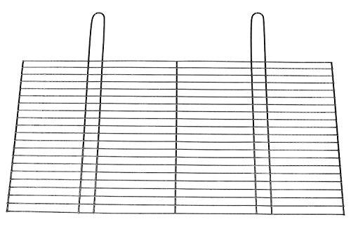 BitWa 54x34cm Grillrost mit Zwei festen Handgriffen Grillkamin Kamin Gartengrill für Holzkohlegrill oder Gasgrill 540x 340 mm