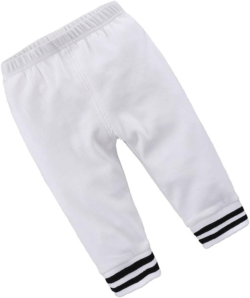 Mary ye Boys Girls Cotton Jogger Brand new Pants Swea Baby Toddler Dedication Elastic