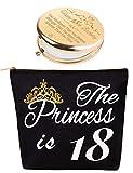 18 Year Old Girl Birthday Gift,18th Birthday Gifts for Girls,18th Birthday Gifts Cosmetic Bag,18 Year Olds Makeup Bag,18th Birthday Makeup Mirror,18 Year Old Girl Gift Ideas,18th Birthday for Girls