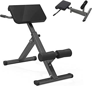 Folding Roman Chair - Multifunctional Waist T-wisting Bench Adjustable Cushion/Height Hyper Extension Decline Bench for Ho...