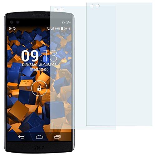 mumbi Schutzfolie kompatibel mit LG V10 Folie klar, Bildschirmschutzfolie (2X)