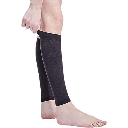着圧ソックス 脹脛サポーター むくみ取り靴下 圧迫圧24hPa(18mmHg) 静脈還流サポート 血行促進 リンパの流れ改善 血栓予防 静脈怒張予防 2色5サイズ (ブラック, XL)