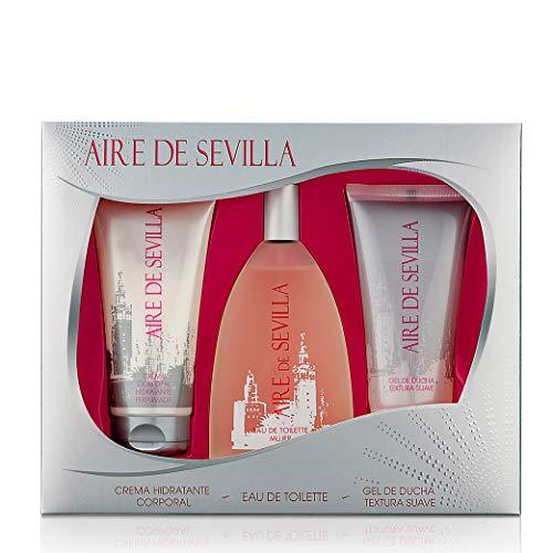 Aire de Sevilla para Mujer - Set Eau de Toilette, Crema Perfumada y Gel Exfoliante