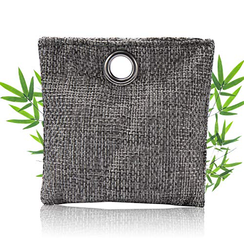 Bamboo Charcoal Air Purifying Bags (1 Pack - 25g), Natural Charcoal Bags Odor Absorber for Home and Car (Pet Friendly)