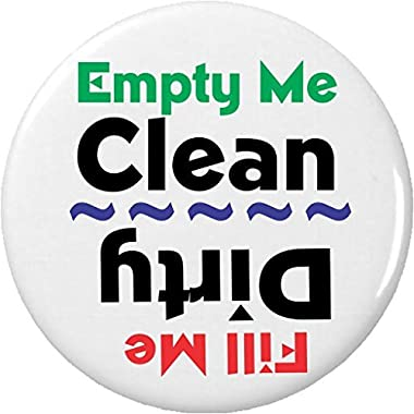 "Empty Me Clean / Fill Me Dirty 2.25"" Magnet Dishes Dishwasher Kitchen"