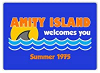 Amity Island Welcomes You 金属板ブリキ看板警告サイン注意サイン表示パネル情報サイン金属安全サイン