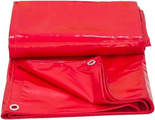 LJL Bache imperméable Bache, bache de Pique-Nique imperméable à l'eau de bache, Isolation de Tissu d'auvent antipoussière de Tente de Soleil Bache Robuste (Couleur   rouge, Taille   5 x 6m)