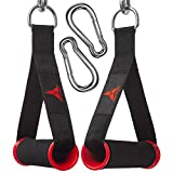 allbingo Strong Pulley Handles Compatible for Resistance Bands Cable Machines,Heavy Duty Comfortable Exercise Handle Grips Attachment with Big Carabiners