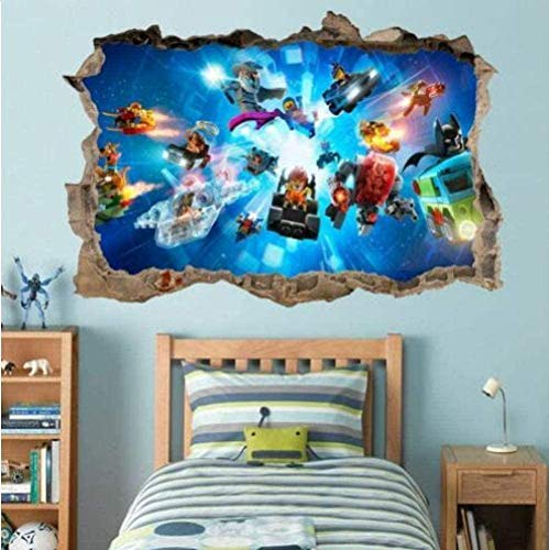SHUBING 3D Appearance Wall Stickers Ghost Character Hero Spider Smash Wall Decal Graphics Decal Wall Sticker Art