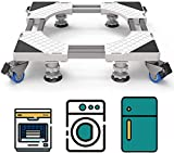 DEWEL Support de Machine à Laver avec 4 Roues et 4 Pieds Base de Réfrigo de Lave-linge e...