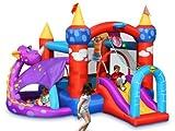 Happy Hop- Gonfiabile Dragon Quest Bouncer, Multicolore, 9022