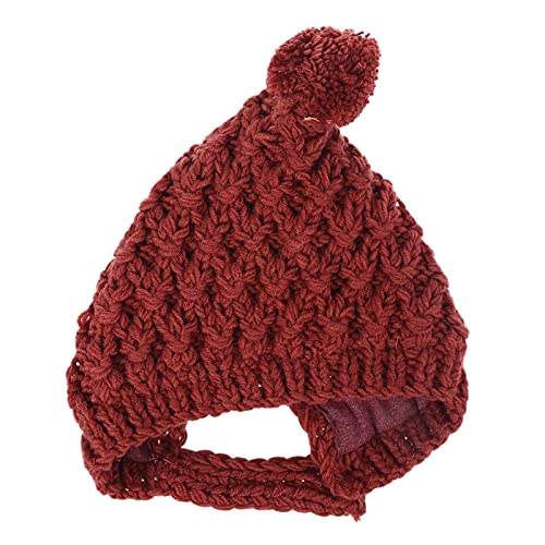 Hiver chaud bébé casquette fourrure boule pompon bonnet bonnet protection des oreilles tricoté couleur unie chapeau pour enfants enfants filles garçons bonnet avec lumière pour enfants