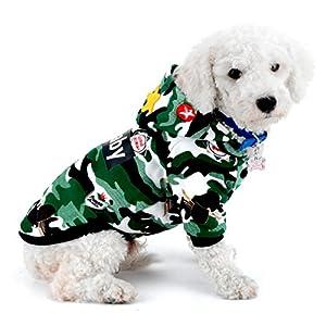 Ranphy Chien Chat Combinaison Camouflage Shih Tzu Manteau d'hiver Chihuahua Capuche Pet Vêtements pour chiens de petite taille chaud Yorkie Apparel