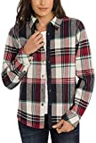 Orvis Womens Fleeced Lined Flannel Pinnacle Shirt Jacket (Multi Check, XX-Large)