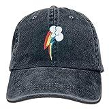 ユニークなレインボーダッシュキューティーマークカウボーイハットヴィンテージシックなデニム野球帽トラック運転手の帽子