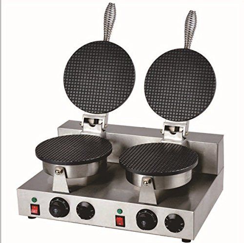 Double bakers industrial electrical 110v/220V ice cream cone machine Crispy egg roll machine waffle maker