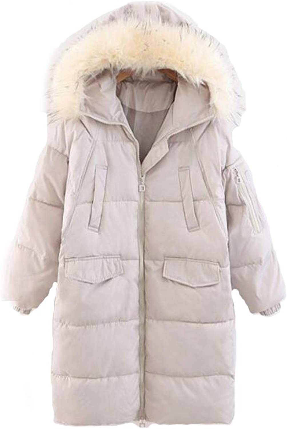 Fashion Cotton Coat Thicken Winter Woman Jacket, Warm and Windproof Casual Hooded (MXXL) Long section,XL