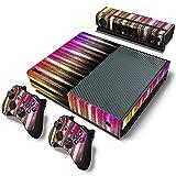 AXDNH Xbox One Juego Completo De Pegatinas De Piel De PVC para Consola Y 2 Controladores Película Protectora De Piel - Patrón Cuadrado Colorido,0138