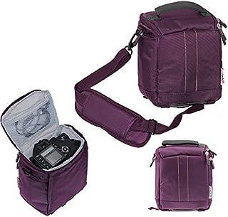 Navitech Fioletowa torba na lustrzankę DSLR kompatybilna z aparatem cyfrowym Fujifilm X-S10 bezlusterkowy