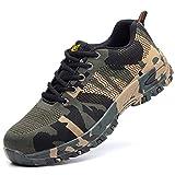 Botas para hombres Zapatos de seguridad Puntera de acero Zapatos de trabajo Botas impermeables de seguridad Botas antideslizantes para hombres Senderismo Laboral Seguro de seguro Capacitación Lona ant